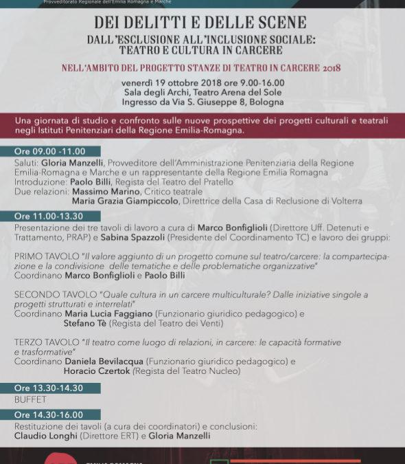 """""""Dei delitti e delle scene"""" giornata di studio il 19 ottobre a Bologna"""